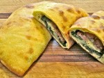 Calzone with Escarole and Calabrian Sausage