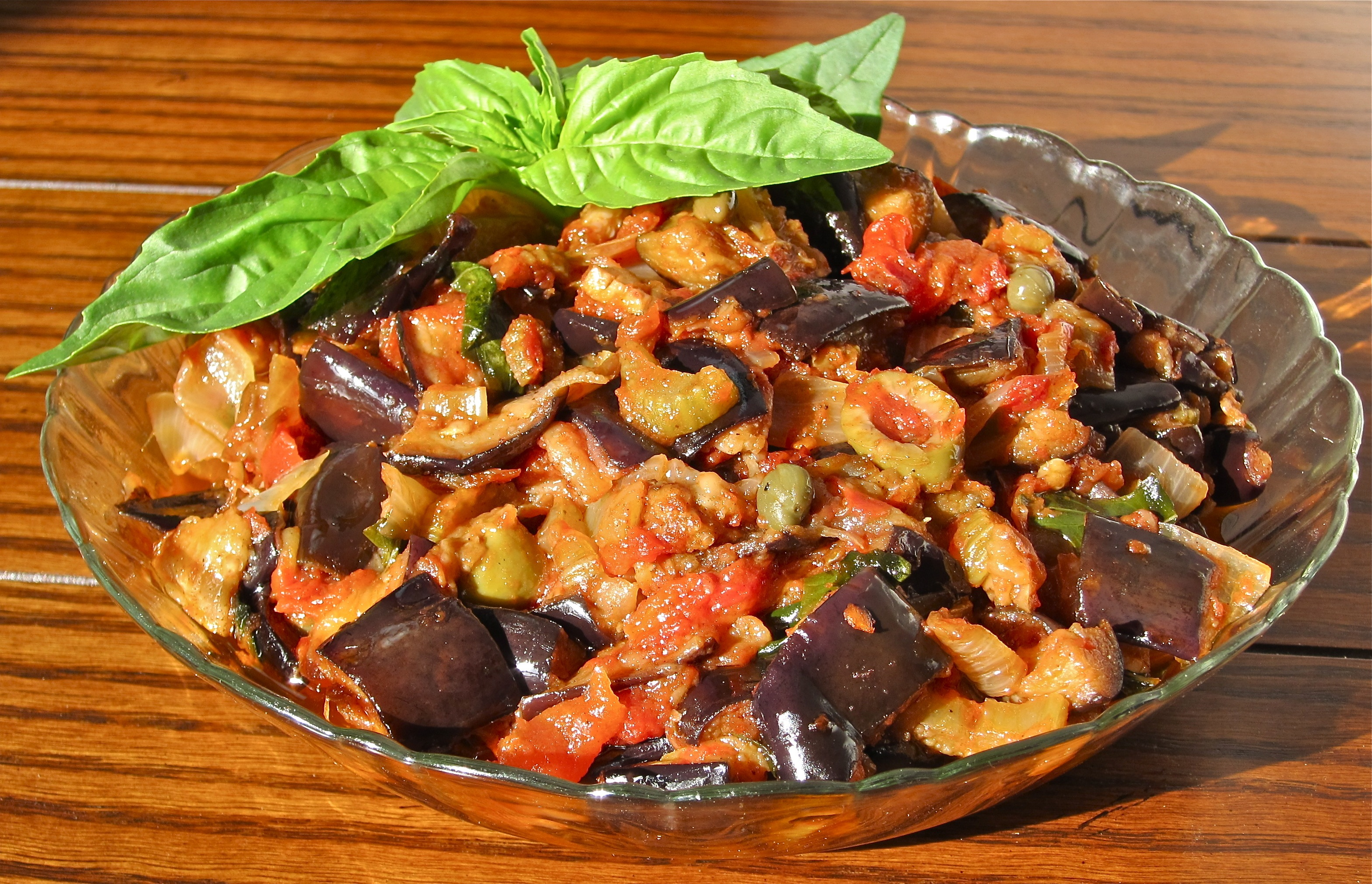 Caponata Siciliana (Eggplant and Vegetable Cooked Salad) | Gianni's ...