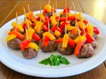 49ers Super Bowl Meatballs & Roasted Peppers