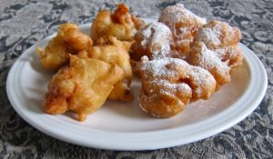 Savory Fritters with Anchovy & Sweet Fritters with Powdered Sugar