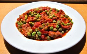 A Neapolitan classic, veal with spring peas