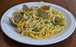 Spaghetti with Clams from the Bay of Naples