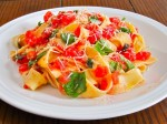 No-Cook Fresh San Marzano Tomato with Pappardelle
