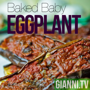 Baked baby eggplant makes a great centerpiece for an antipasti platter.
