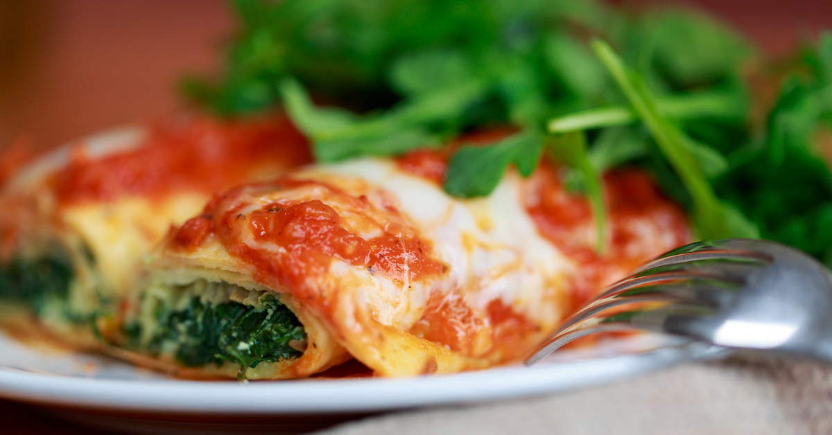 Spinach and Ricotta Cannelloni | Gianni's North Beach