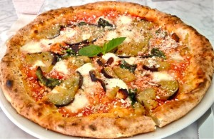 Il Casaro's Pizza Norma with grilled eggplant
