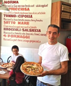 Salvatore, the pizzaiola at North Beach's new Il Casaro Pizzeria & Mozzarella Bar